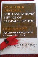 ??  ?? The Myall Creek Memorial is a place of national significance. The Stuart Desert Pea is a symbol of the blood spilt on the soil.