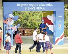 ??  ?? Fachada del colegio ubicado en Puerto Colombia.