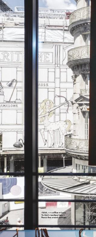??  ?? Abloh, in his office at Louis Vuitton's headquartersh in Paris's first arrondissement.