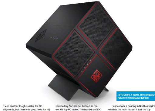 ??  ?? HP's Omen X marks the company's return to enthusiast gaming