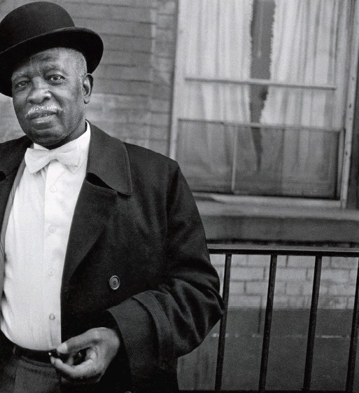 """??  ?? A Man in a Bowler Hat, Harlem, NY, from the series """"Harlem, U.S. A.,"""" ca. 1976."""
