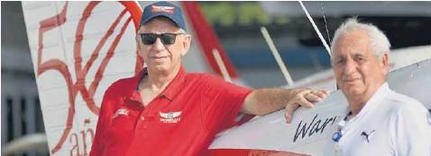 ?? Hansel Vázquez ?? Bruno y Albert Lachmann comandan la empresa Protécnica SAS ubicada en el hangar N°01 del aeropuerto de Barranquilla.