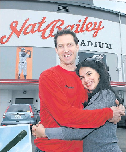 ?? JON MURRAY — THE PROVINCE ?? Chris Pritchett and wife Saffron Henderson in March.