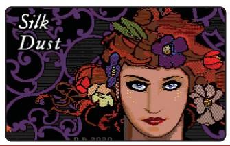 ??  ?? Below: Silk Dust features a fabulous title screen