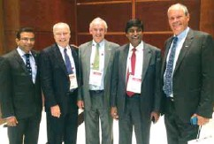 ??  ?? Sanjiv Edward (extreme left) and I Prabhakara Rao(2nd from right) in the TIACA conference