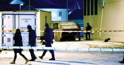 ?? Arkivbild: STEFAN BERG ?? BESTÅENDE MEN. En man som arbetar som städare på asylboendet i Västra Frölunda skadades svårt när en container exploderade.