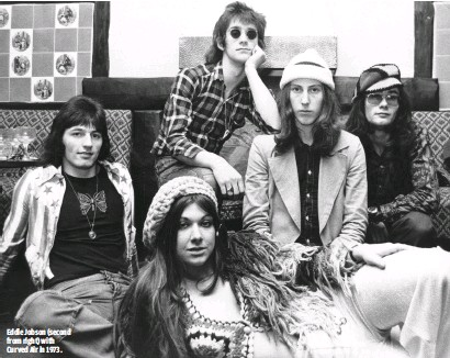 ??  ?? EDDIE JOBSON (SECOND FROM RIGHT) WITH CURVED AIR IN 1973.