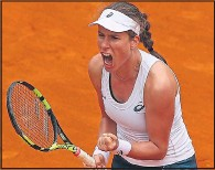 ??  ?? LOTS TO SHOUT ABOUT: Konta celebrates in Rome