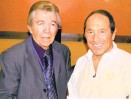 ??  ?? DJ Bobby Box is pictured here a few years back with singersongwriter Paul Anka, who was doing a show at a New Mexico casino.