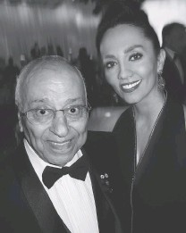 ??  ?? Arya Eshghi greeted Crystal Ball guests as uncle Djavad Mowafaghian readied a $ 1.4- million gift to B. C. Children's Hospital.