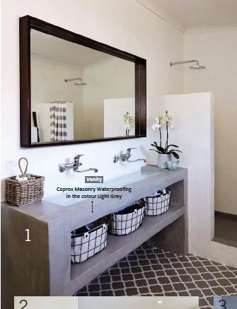 ??  ?? 1 VanityCoprox Masonry Waterproofing in the colour Light Grey