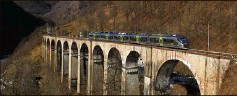 ?? (Photo Federico Santagati) ?? Le train des merveilles français traverse les plus beaux paysages.