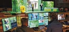 ?? Foto: Ulrich Wagner ?? Am Wochenende tagen die bayerischen Grünen in der Kongresshalle in Augsburg ‰ die allermeisten Teilnehmer sind aber nur digital dabei.
