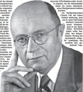 ?? Foto: Stadtarchiv Leipzig/ba 1983/15958 ?? Johannes Vierling (1889–1956).