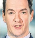 ??  ?? George Osborne told MPs of planning