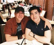?? — Filepic ?? Wong and his son William in a photo posted on social media.