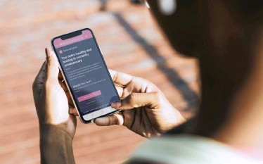 ??  ?? THE CoronaFighter app allows users to track Covid-19 symptoms through simple automated self-monitoring processes.