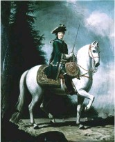 ??  ?? Power play: Catherine ii of russia (1762), riding astride and in a man's military uniform