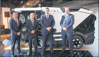 ??  ?? USPJEŠNA EKIPA Marko Kolar, Darko Paviša, Ivan Franičević i Frane Franičević elektrificiranu verziju čistilice Lynx planiraju predstaviti 2020.