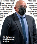 ??  ?? Mr Zahawi at the Hackney session