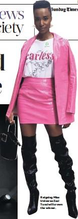 ??  ?? Reigning Miss Universe Zozi Tunzi will crown the winner.