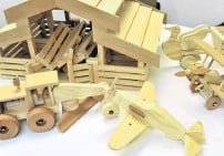 ??  ?? Community generosity . . . Handmade wooden toys are just some of the items donated to Te Whare Pounamu.