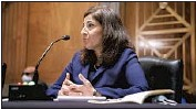 ?? Kent Nishimura Los Angeles Times ?? POLICY ADVISOR Neera Tanden, whom President Biden pulled as his nominee to serve in the Cabinet as budget chief, lacked the Senate votes to be confirmed.