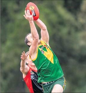 ?? Photo: Bruce Povey. ?? Colbinabbin's Matt Riordan booted three goals on Saturday.