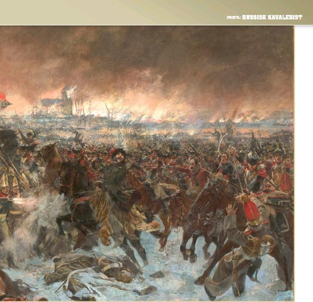 ??  ?? Slaget ved Eylau der det russiske kavaleriet slåss mot Napoleon.