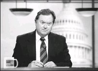 ?? ALEX WONG, GETTY IMAGES ?? Tim Russert listens during a taping of Meet the Press at the NBC studios in Washington last September. He died there yesterday.