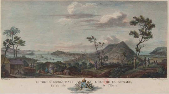 ??  ?? Grenada pictured in the 1770s, part of Britain's grant of new colonies following the Seven Years War