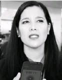 ??  ?? Sophia Huett López, comisionada de la Unidad de Análisis y Estrategias para la Seguridad.