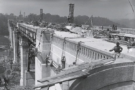 ??  ?? The construction of the Prince Edward Viaduct, or Bloor Viaduct. The principal artery connecting downtown Toronto and the eastern half of the city is three years' shy of a century old. Investing in communities isn't an issue of lack of money, but a...