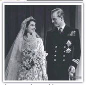 ??  ?? The Th Queen Q and dP Prince i Phili Philip marry.