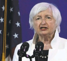 ?? Alex Wong / Getty Images / TNS 2020 ?? Secretary of the Treasury nominee Janet Yellen was approved by the Senate Finance Committee.