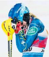 ??  ?? Mikaela Shiffrin celebrates after winning an Alpine Skiing World Cup slalom in Flachau, Austria.