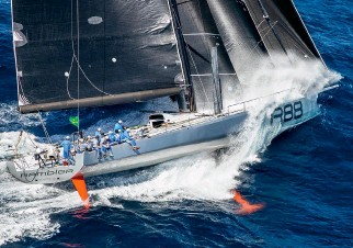 ??  ?? The Ircrecords platform will allow smaller yachts to take on established record holders like George David's Rambler