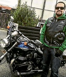 ?? STUFF ?? Atama Moore is a Christchurch member of Tribal Nations. ''We are a motorcycle club who wants to serve the community.''