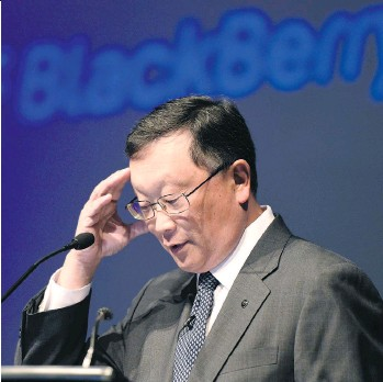 ?? FRANK GUNN/THE CANADIAN PRESS FILE ?? In 2008, years before John Chen became CEO and when BlackBerry was still known as RIM, the smartphone maker was Canada's largest company by market capitalization at $83 billion.