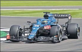 ??  ?? Fernando Alonso durante los entrenamientos libres de ayer.