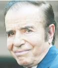 ??  ?? Carlos Menem