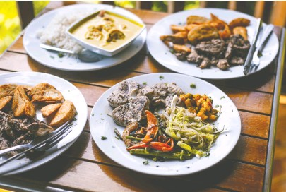 ??  ?? Tobagonian cuisine brings together flavours of European, African and Indian traditions.