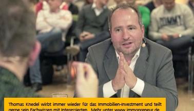 ??  ?? Thomas Knedel wirbt immer wieder für das Immobilien-investment und teilt gerne sein Fachwissen mit Interessierten. Mehr unter www.immopreneur.de
