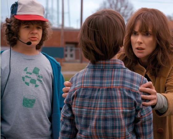 ??  ?? Stranger Things: Winona Ryder encourages Noah Schnapp to hang in until season three
