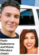 ??  ?? Paolo Ballesteros and Maine Mendoza (inset)