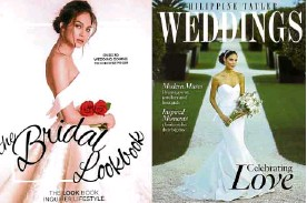 """??  ?? Thelma San Juan's """"The Bridal Lookbook"""" with a Mark Bumgarner wedding gown, and Philippine Tatler's """"Weddings"""" Celebrating Love issue"""