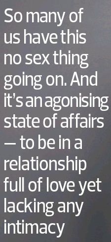 In a relationship with no sex