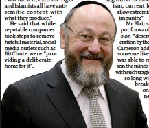 ??  ?? Support for Commission: Chief Rabbi Ephraim Mirvis