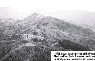 ?? Masungi Georeserve Foundation ?? Bald mountain at a portion of the Upper Marikina River Basin Protected Landscape in Rizal province.