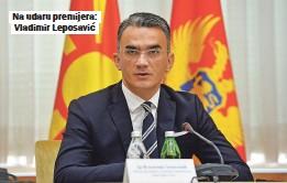 ??  ?? Na udaru premijera: Vladimir Leposavić